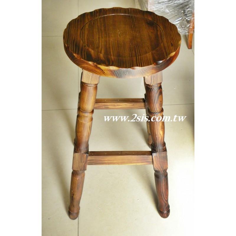 松木吧台椅