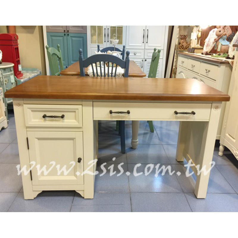 萊茵鄉村雙色書桌/辦公桌