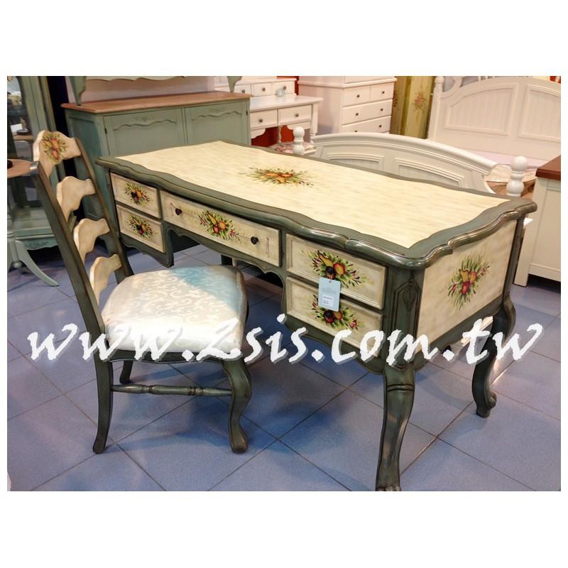 歐式鄉村彩繪書桌/辦公桌