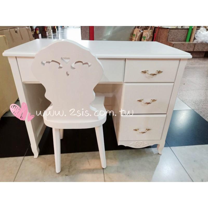 艾莉鄉村白色書桌/辦公桌