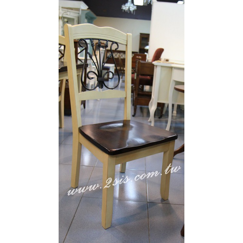 美式鍛鐵實木椅