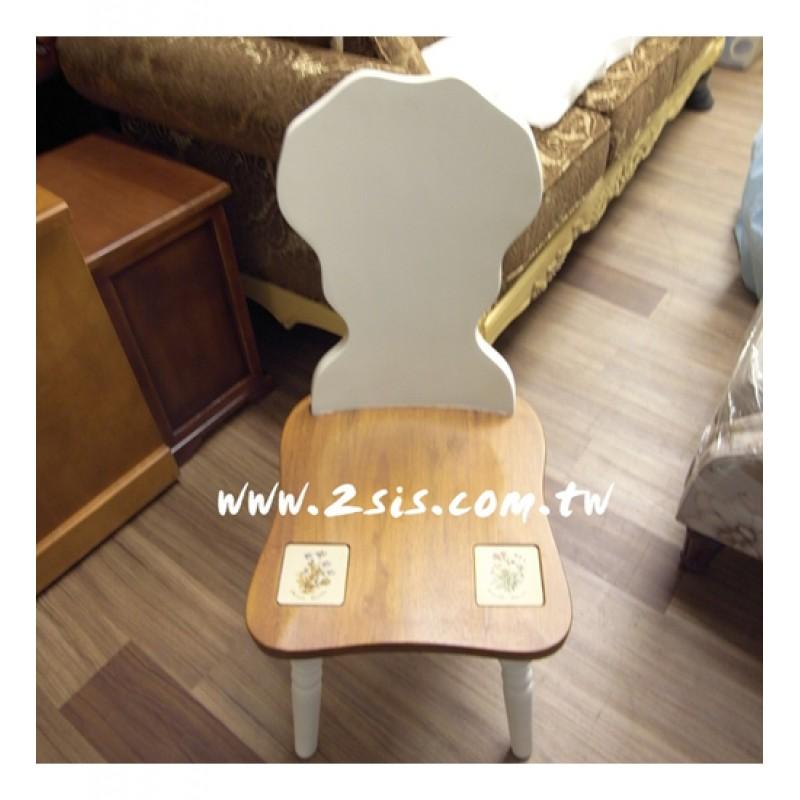 凱薩磁磚雙色米樂椅