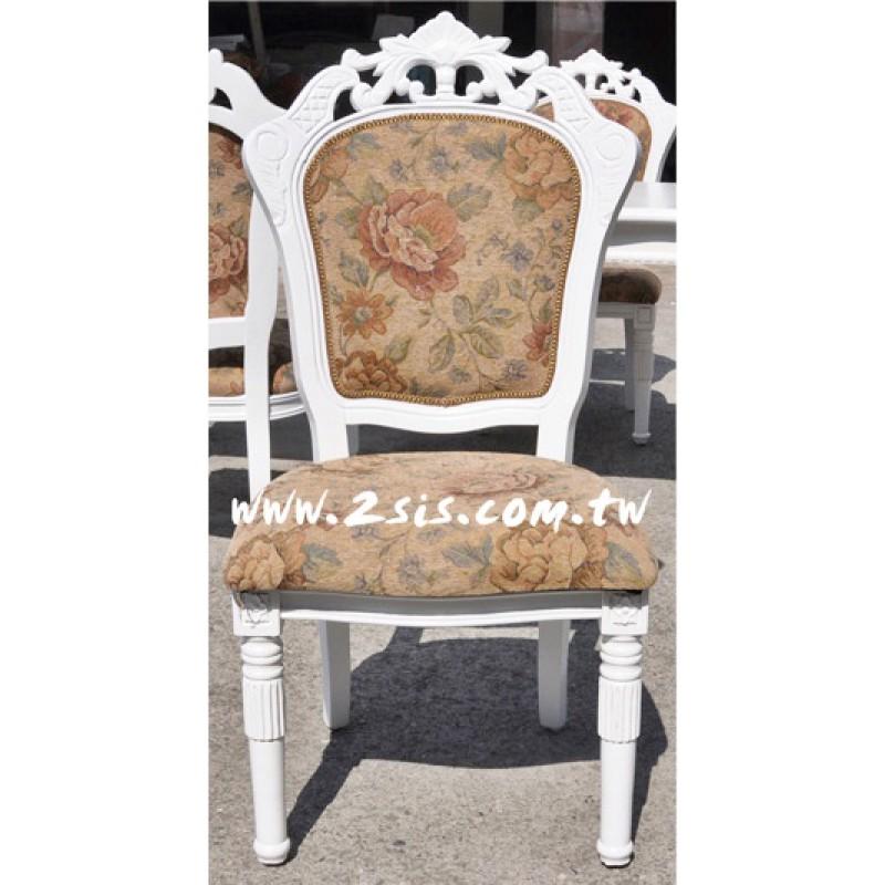 古典布面無扶手椅