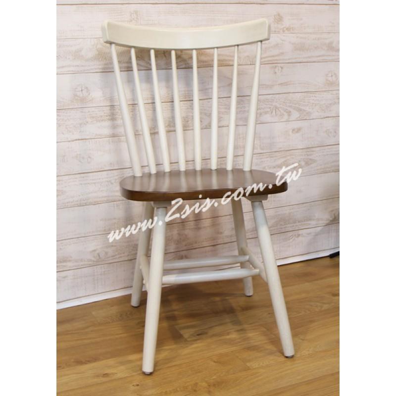 美式鄉村雙色椅