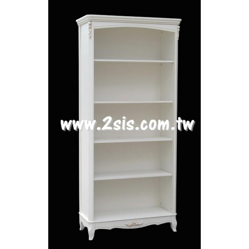 品歐洗白開放式書櫃