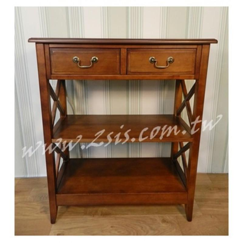 英式橡木二抽收納櫃/書櫃