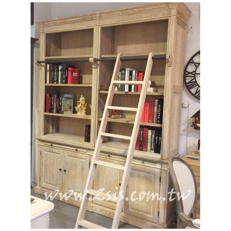 法式鄉村實木階梯書櫃(限量販售)