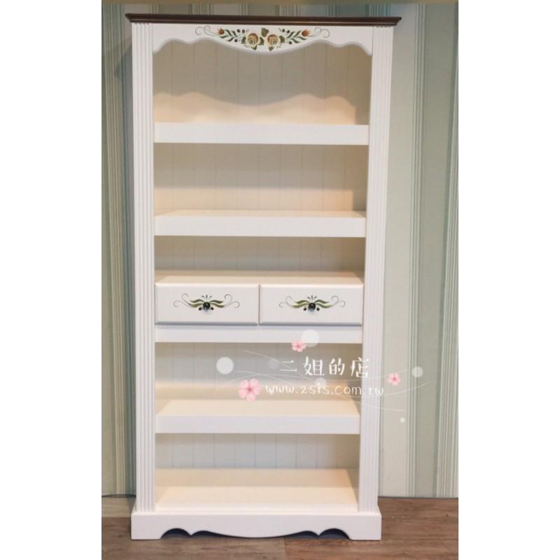 訂製款-鄉村實木兩抽大書櫃、展示櫃