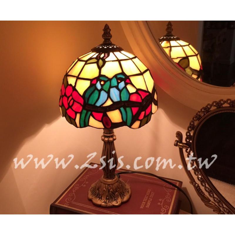 Tiffany雙鳥桌燈-小