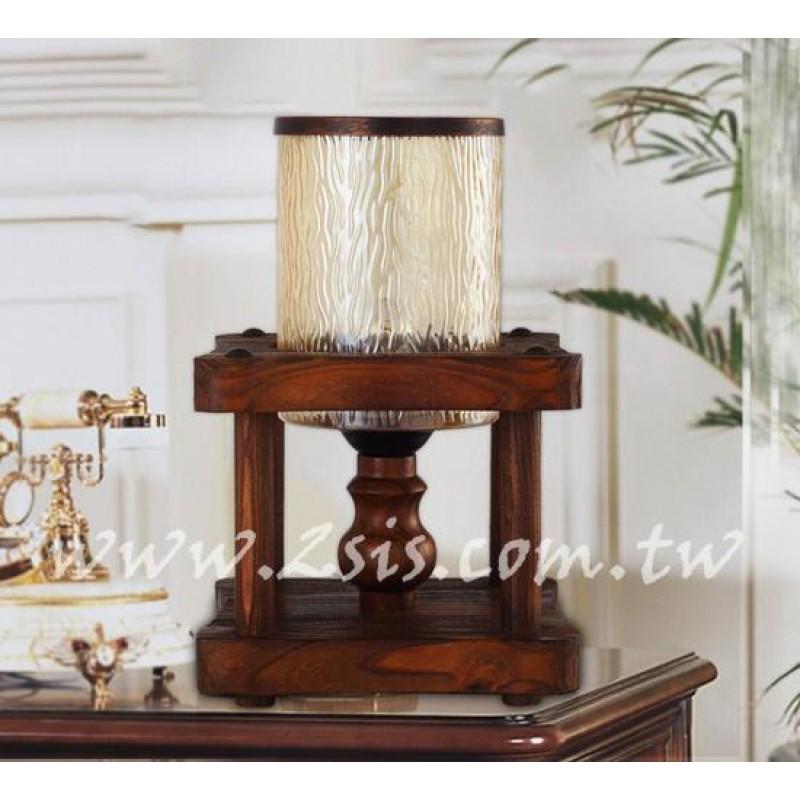 西班牙復古原木桌燈