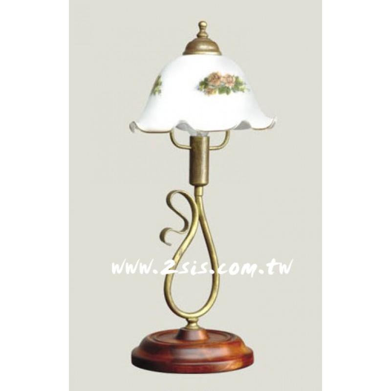義式原木桌燈