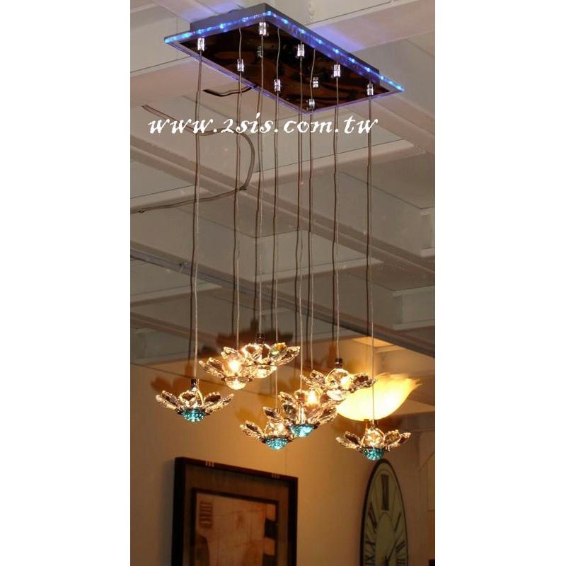 梅花水晶5燈吊燈(3965)