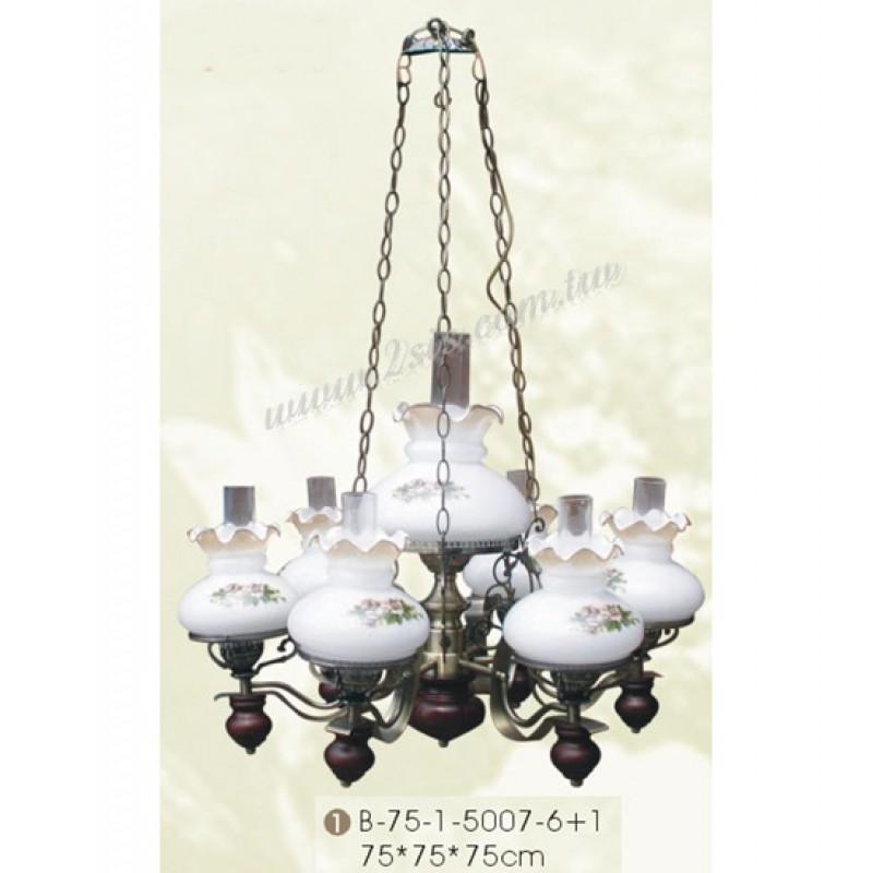 古典仿古雙層油吊燈-七吊燈