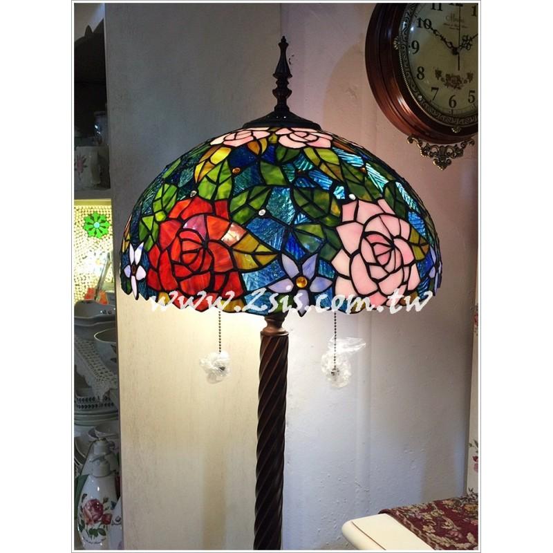 Tiffany第凡內立燈-玫瑰