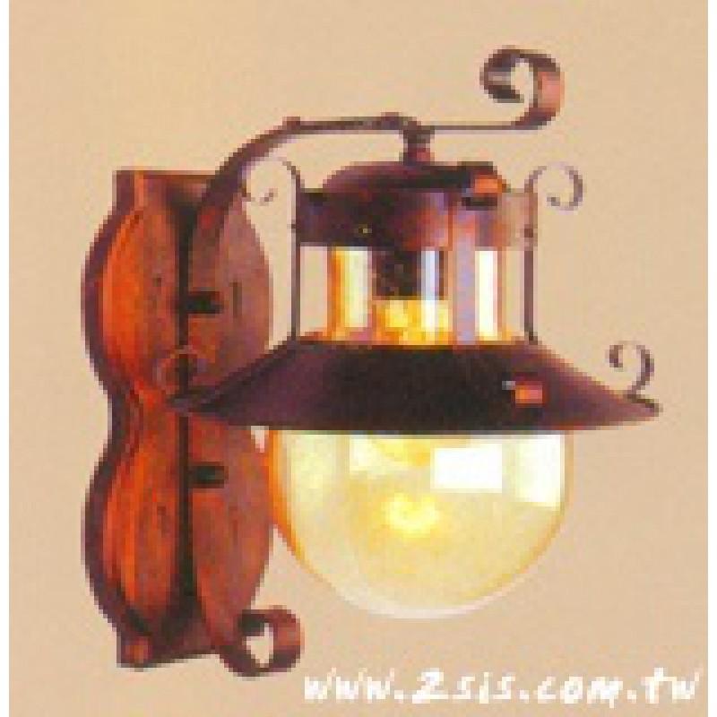 西班牙原木壁燈