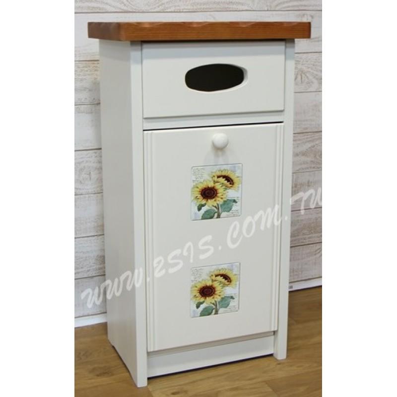 凱撒實木貼磚垃圾箱-雙色