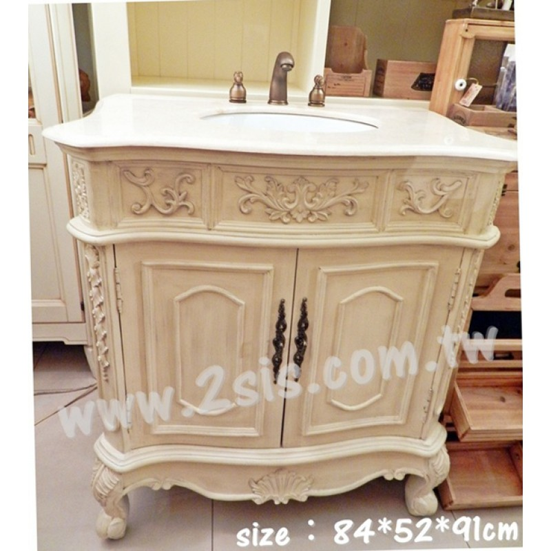 歐式雕花洗手台/洗手櫃/浴櫃
