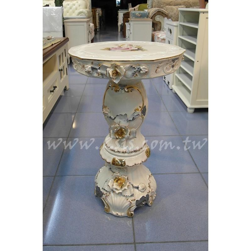 義大利陶瓷玫瑰圓桌/花台