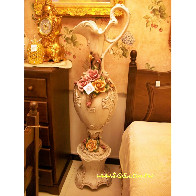 義大利進口手工瓷落地花器