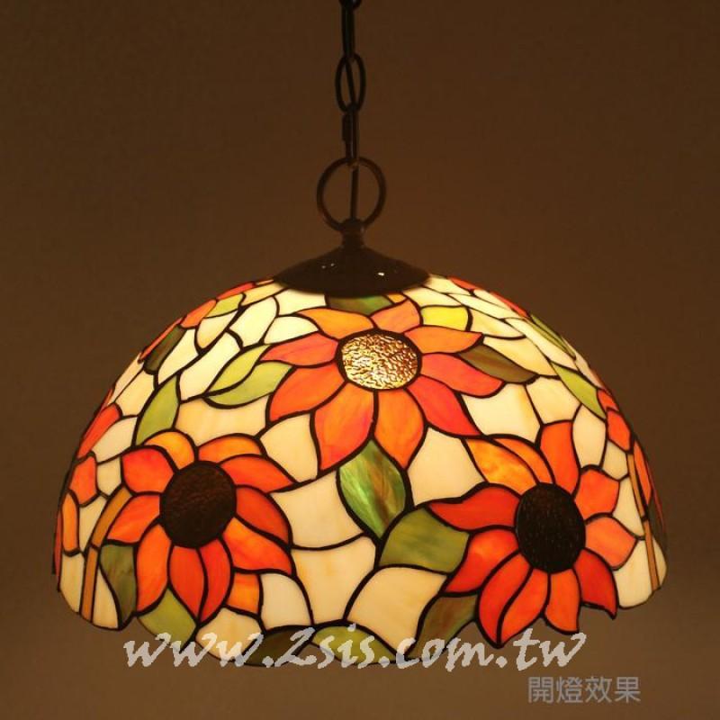 第凡內彩繪玻璃吊燈-太陽花