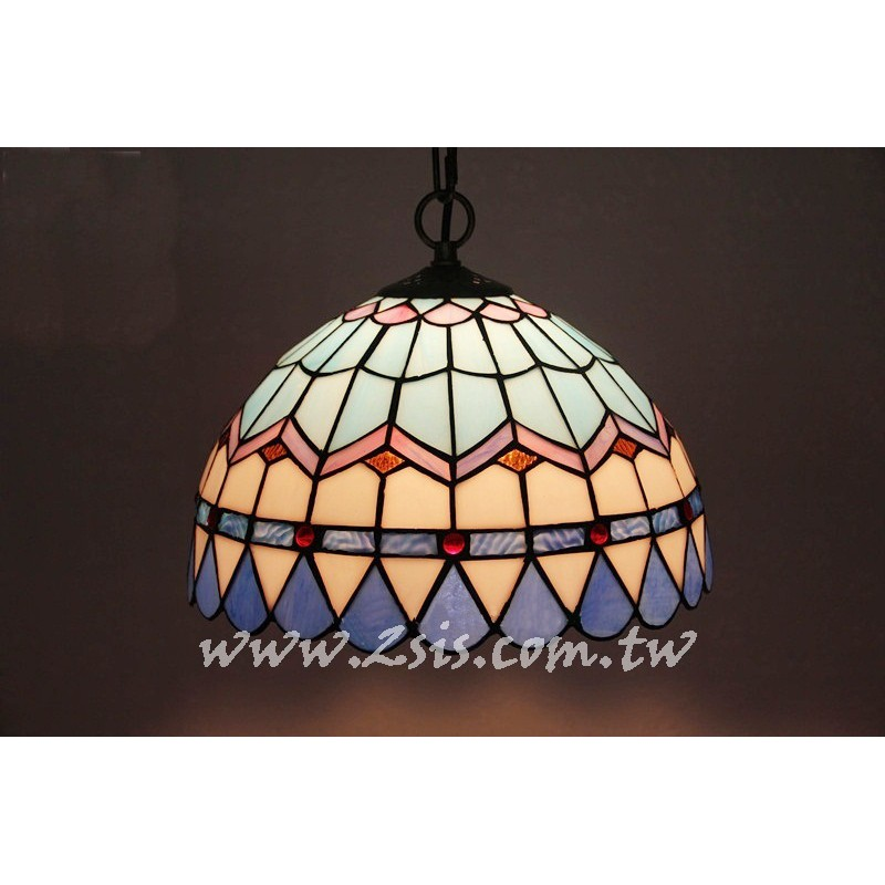 第凡內彩繪玻璃吊燈-地中海