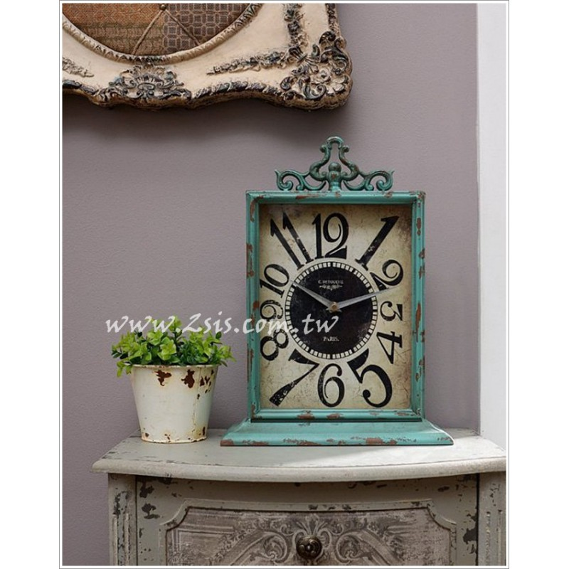 美式鄉村維多利亞仿舊桌鐘