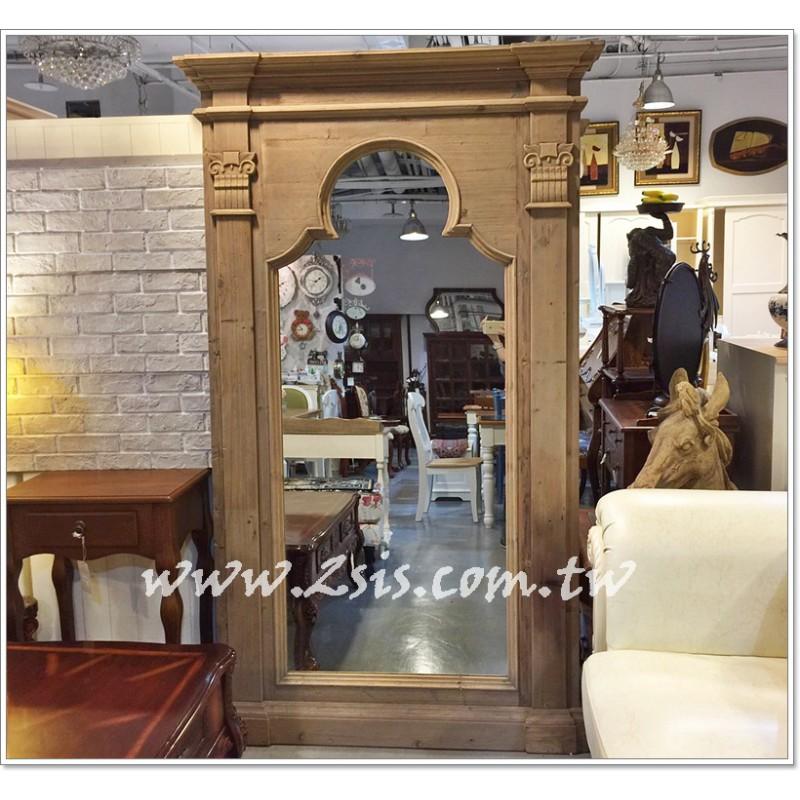 法式鄉村羅馬穿衣鏡/落地鏡/大壁鏡